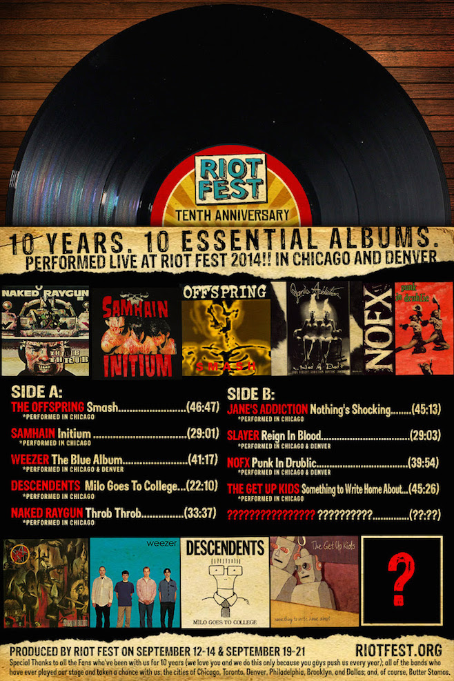 Riot Fest Anniversary Poster 2014