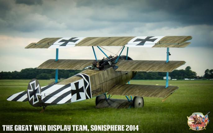 Bruce Dickinson Fokker DR1 Sonisphere 2014