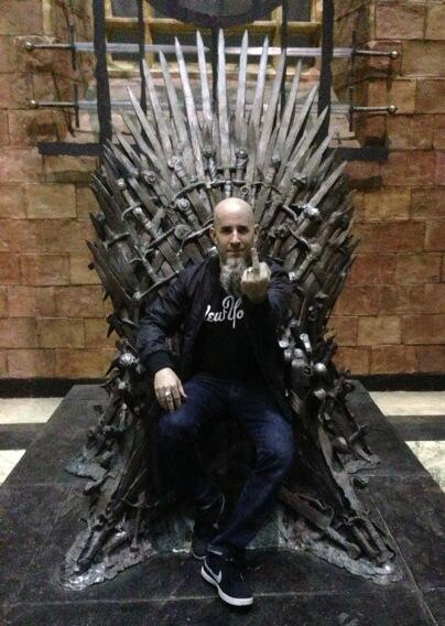 Scott Ian Throne Room Pic