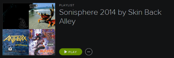 Sonisphere Playlist Cap