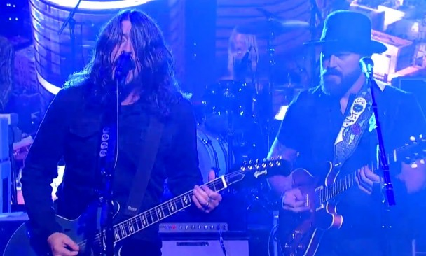 Foo Fighters Zac Brown Letterman