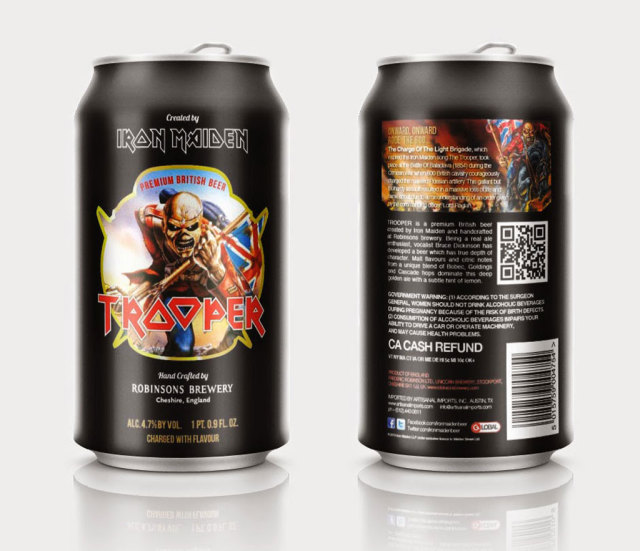Iron Maiden Trooper Beer Cans 640x550
