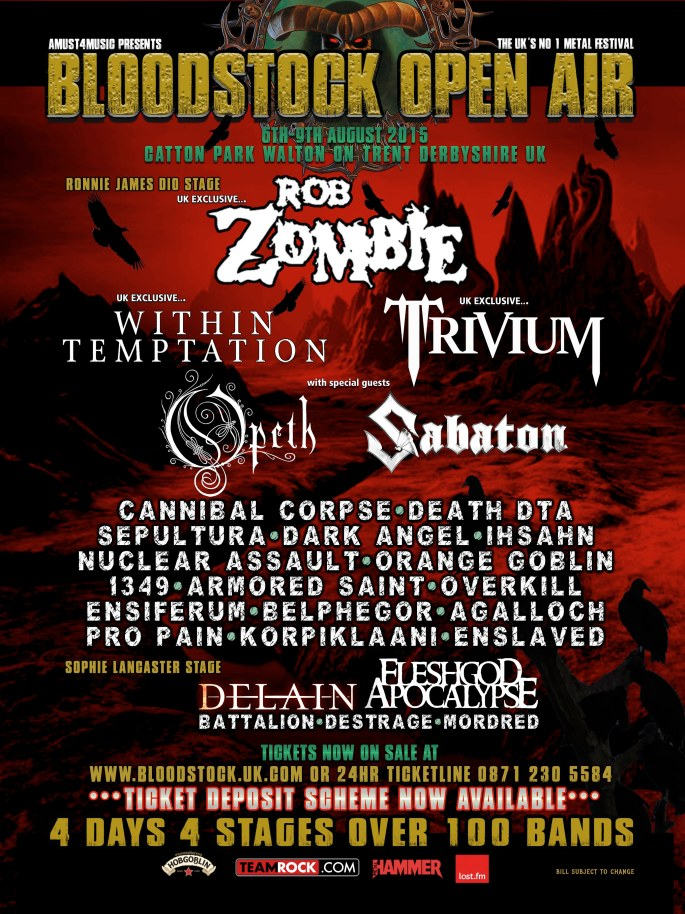 Bloodstock Lineup - 20th January 2015