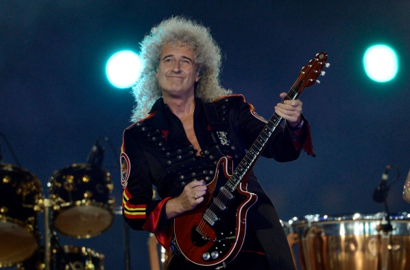 Queen's guitar player Brian May performs