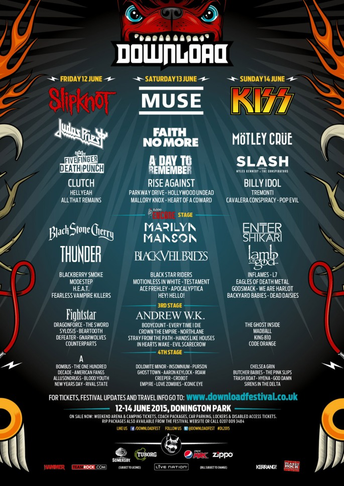 Download lineup 25th Feb 2015