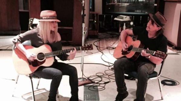 Richie Sambora and Orianthi studio shot