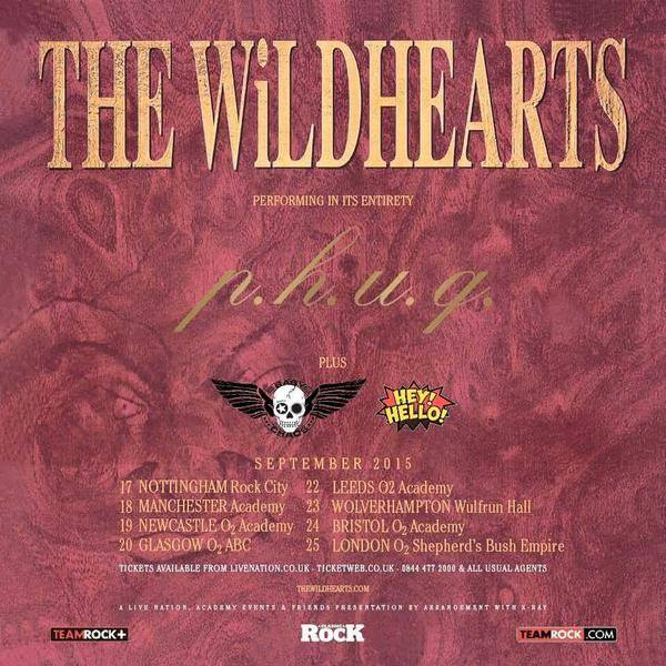 Wildhearts PHUQ 20th anniversary tour