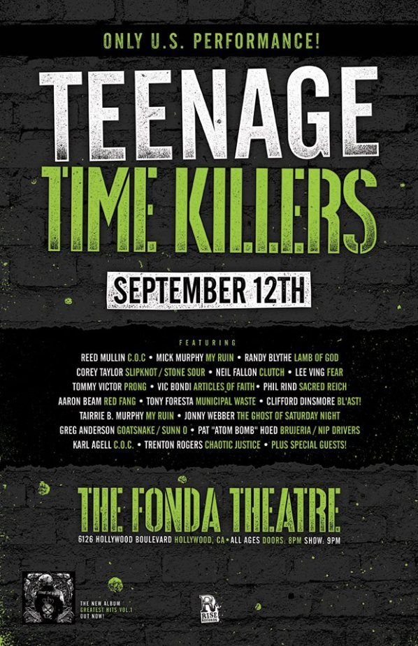 Teenage Time Killers live show poster