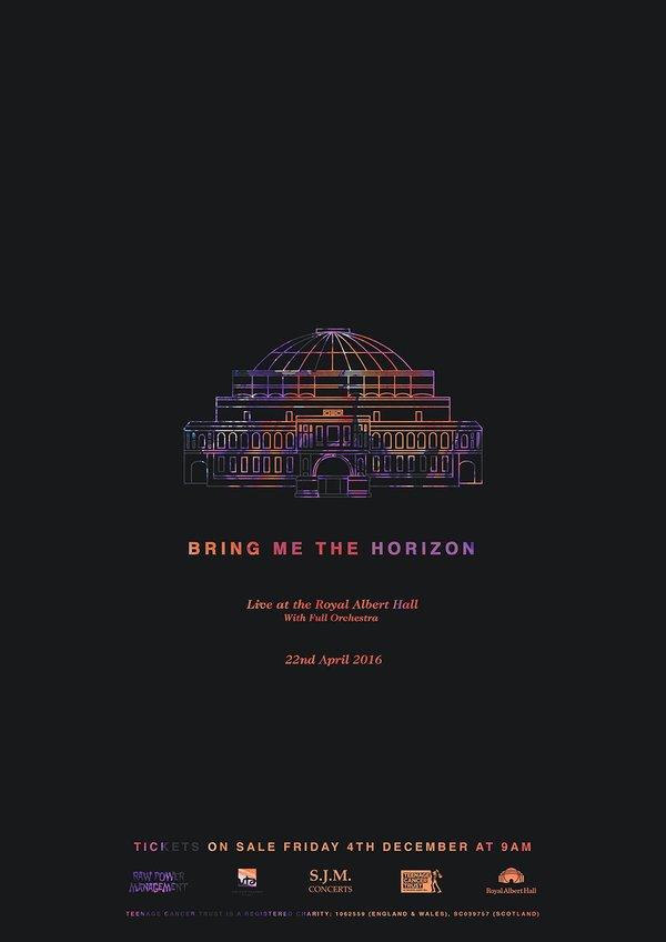 Bring Me The Horizon Royal Albert Hall poster