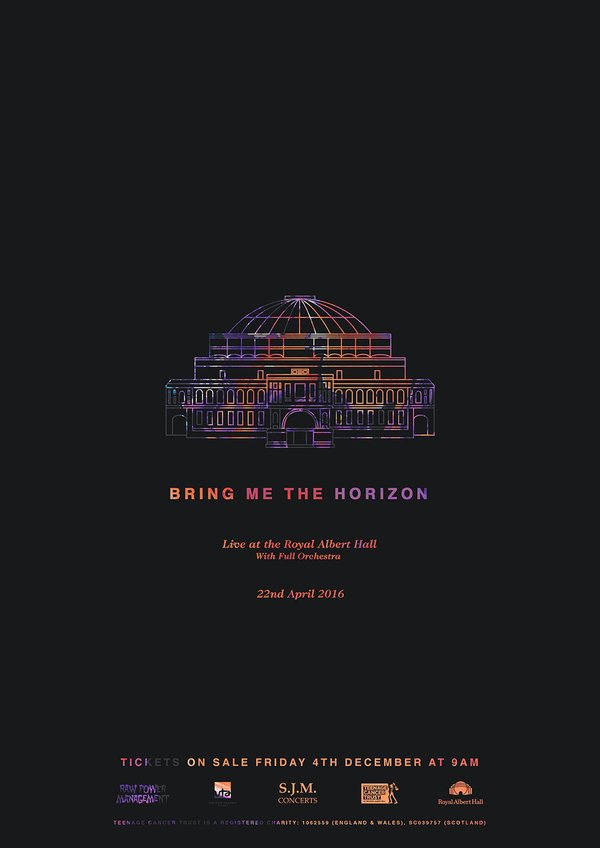 Bring Me The Horizon Royal Albert Hall poster