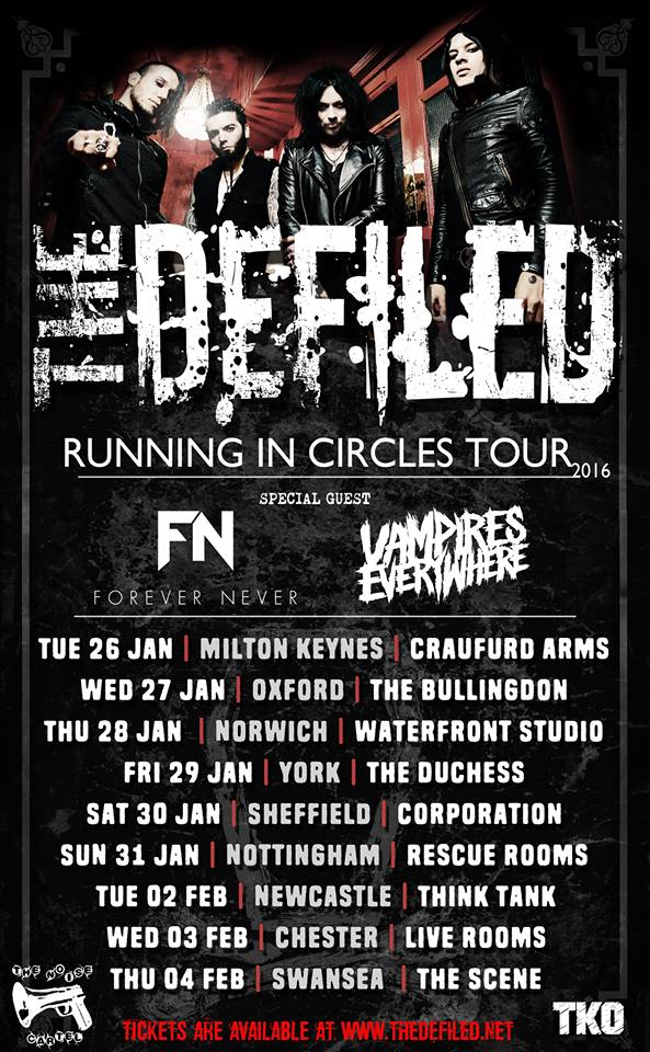 Defiled tour poster 2016