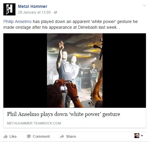Metal Hammer Facebook Anselmo post