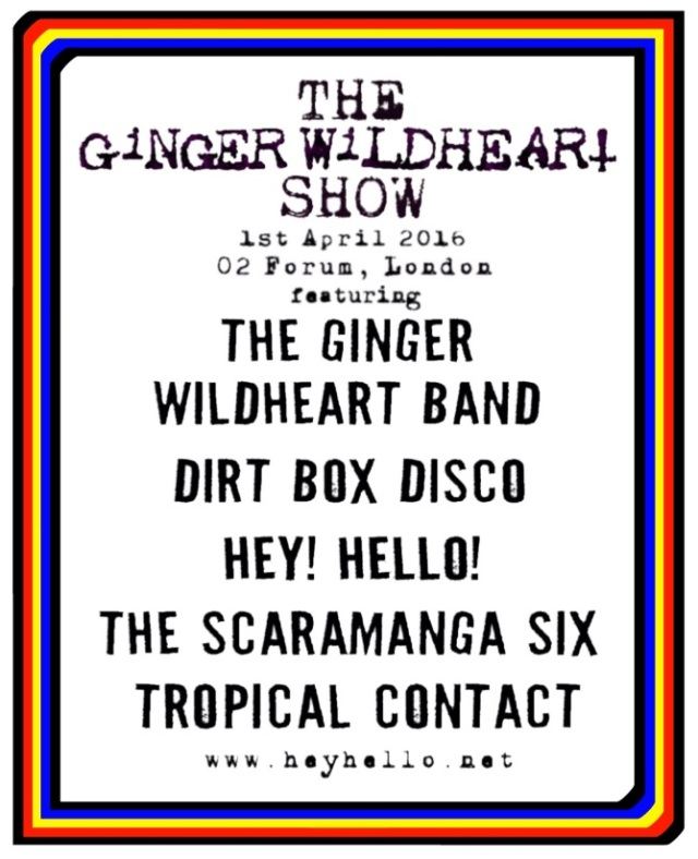 Ginger Wildheart Show 2016 poster