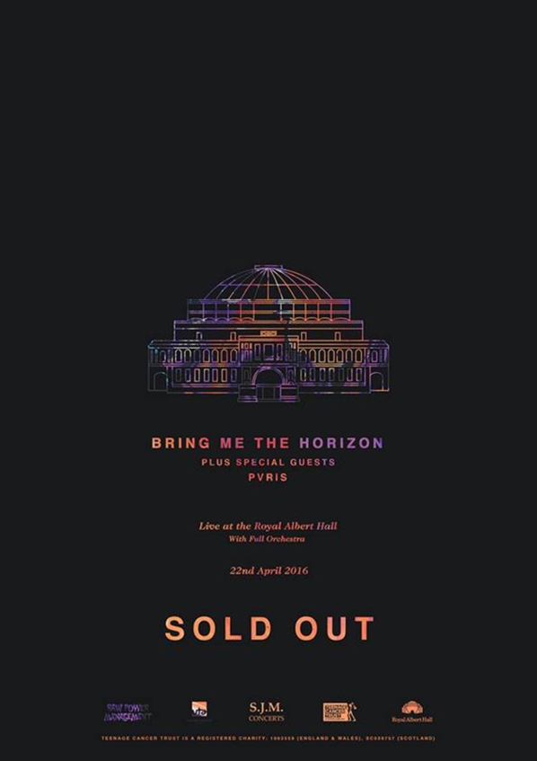 Bring Me The Horizon Royal Albert Hall w Pvris Poster
