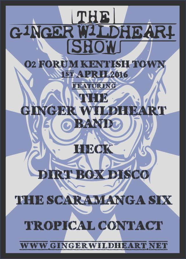 Ginger Wildheart Show final poster