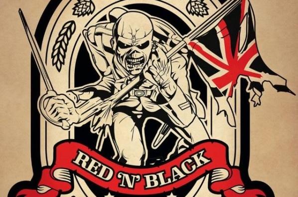 Iron Maiden Trooper Red N Black crop