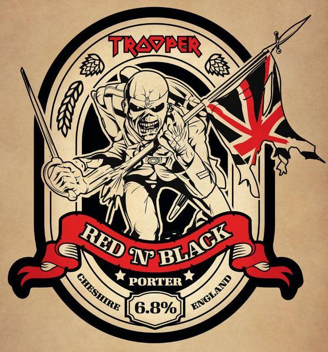 Iron Maiden Trooper Red N Black