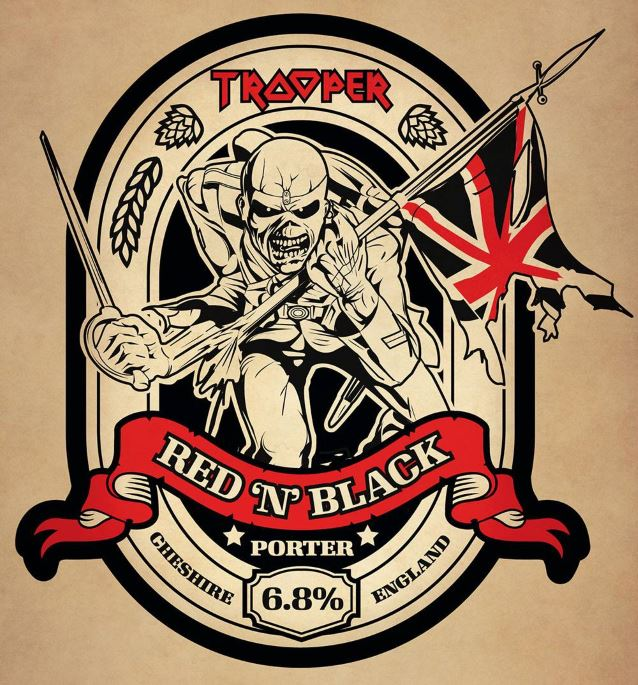 Iron Maiden Trooper Red N Black