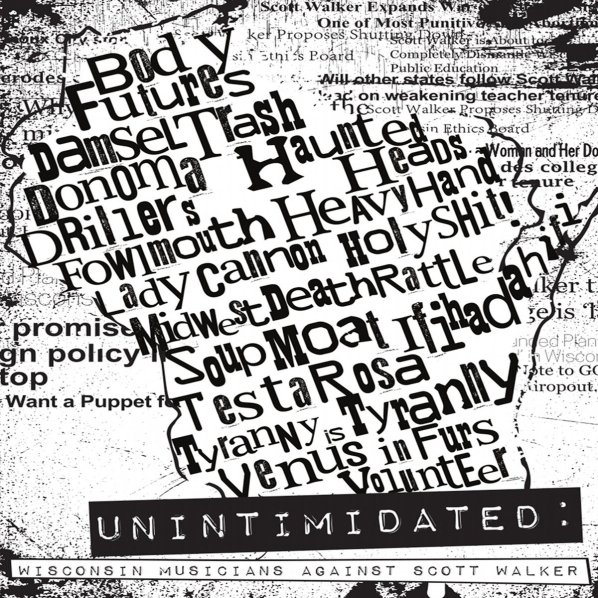 UNINTIMIDATED Wisconsin Musicians Against Scott Walker cover