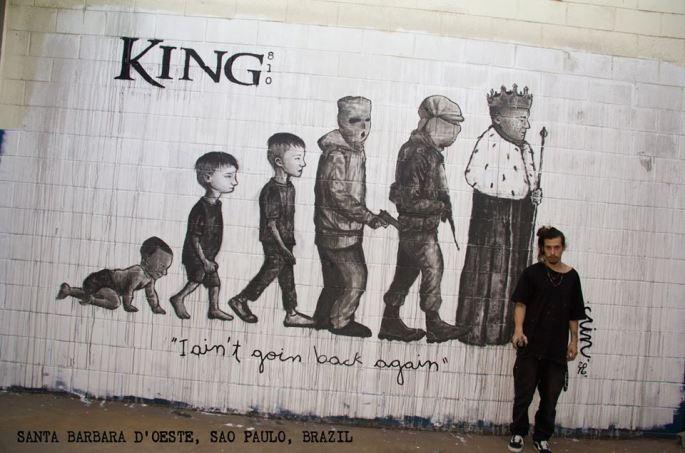 King 810 I Aint Goin Back Again mural