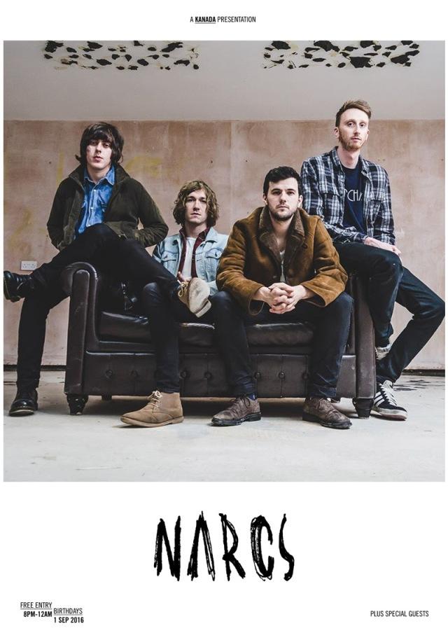 Narcs London Gig poster